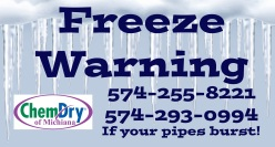 Freeze Warning Tips for Inside your Home