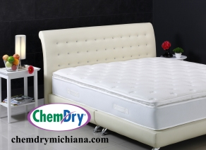 Beautiful mattress and bed set built for photography in the stud